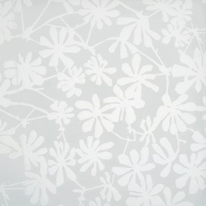 Glass White Etched Flowers