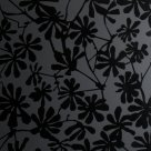 Glass Black Etched Flowers