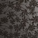 Glass Brown Etched Flowers